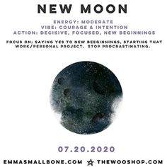 @emma_smallbone posted to Instagram: There's a NEW MOON tonight.    It's time to be courageous and and intentional in your decisions.  Listen to your gut and stick to the choice you have made.    Focus on saying YES.  Stop procrastinating....start the new work project you've thought about or house renovation.    New beginnings are here!  What are you doing for the new moon tonight?  #newmoon #moonphases #newbeginnings #newmoonrituals #newmoonvibes #instamoon #moonmemes #themoon #moonwitch…