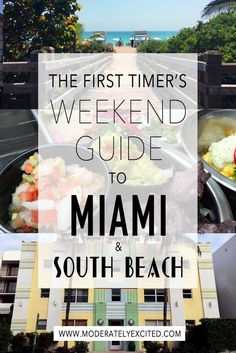 The first timer's comprehensive weekend guide to Miami and South Beach Florida - where to stay, what to eat and things to do! miami travel tips for south florida beach vacation Florida Travel, Florida Beaches, Travel Usa, Travel Tips, Florida Keys, Travel Guides, Miami Florida Vacation, Fl Keys, Florida City