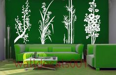 Vinyl Wall Decals Wall Stickers Flower Decals by walldecals001, $68.00