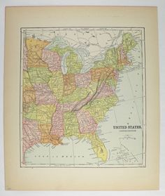 Real Washington Map Oregon Territory State Map Mitchell - Map of eastern united states