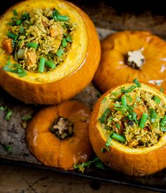 This communal vegetarian biryani recipe from Indian chef Vivek Singh fills a hollowed-out pumpkin with many different vegetables and rice and is perfect for a large celebration.