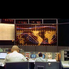 Gemini 5 control room, 1965.