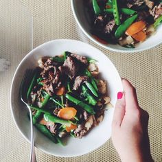 Stir fried beef and vegetables with ho fun #lunchforbreakfast