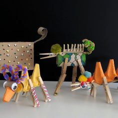 Easy and very fun kids craft idea using every day objects, popular craft materials and child's imagination.