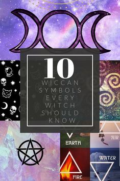 Like most religions, Wicca has its fair share of important symbols. We frequently incorporate them into spells and rituals as a way to link the ethereal, mysterious power of magick with the physical world. Wiccan Spell Book, Wiccan Witch, Magick Spells, Wicca Witchcraft, Wicca For Beginners, Witchcraft For Beginners, Wiccan Crafts, Hedge Witch, Baby Witch