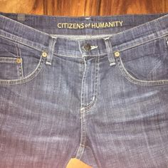 Citizens Of Humanity Size 25 Lennox Jeans These are a gently used pair of Citizens of Humanity jeans. They are a dark denim and are size 25. They are in excellent condition.  If you'd like any additional pictures, just let me know!  I'm new to Poshmark, so please share! Citizens of Humanity Jeans