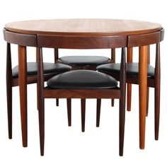 Danish Teak Dining Set for Four by Hans Olsen | 1stdibs.com http://www.pinterest.com/search/pins/?q=danish%20dining%20tables&rs=rs