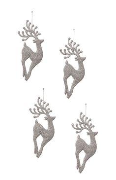Primark - Pack 4 enfeites de Natal renas cinzentas