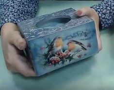 Vintage Box, Craft Box, Tissue Boxes, Artisanal, Decorative Boxes, Lunch Box, Arts And Crafts, Cards, Handmade