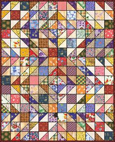 Tennessee is quilts, hand quilted. Quilt Block Patterns, Pattern Blocks, Quilt Blocks, Old Quilts, Scrappy Quilts, Hand Quilting, Quilting Ideas, Backyard Layout, Half Square Triangle Quilts