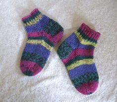 Socken - Handgestrickte Kindersocken 24/25 - ein Designerstück von…