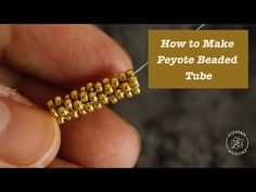 This step-by-step jewelry DIY tutorial shows you how to make even count, odd count and tube peyote stitch using one earring design as an example.