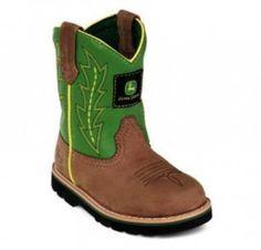 El zapato de niño debe ser lindo y cómodo, por que si no es así, tus niños no lo usaran. Las Botas John Deere cumplen ambos requisitos.