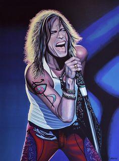 Steven Tyler Of Aerosmith Painting by Paul Meijering