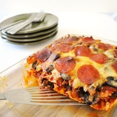 Pizza Casserole by LittleBCooks