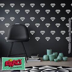 #adesivo #decoração #parede #diamante