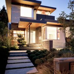 front landscape - modern - exterior - other metro - Natural Balance Home Builders