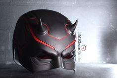Creepy Masks, Cool Masks, Best Masks, Daredevil Suit, Black Helmet, Double Dare, Moon Knight, Leather Mask, Armor Concept