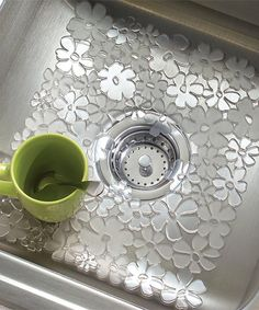 Loving this Clear Floral Sink Mat on #zulily! #zulilyfinds