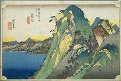 Utagawa Hiroshige (Andō Tokutarō, Ando Hiroshige – Japan, 1797-1858) The Fifty-three Stations of the Tōkaidō 1832-1834