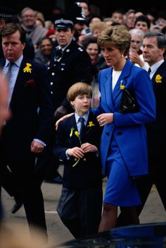 Diana takes Prince William on his first official engagement in Cardiff on 1st March, 1991 - New Zealand Womans Weekly