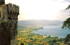 one of my favorite places in the entire world!!! I will go back one day <3 Lake Bracciano from Bracciano Castle, Italy