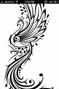 Phoenix tattoo idea ~ to go with my lower back tattoo??