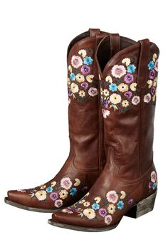 Lane Women's Brown Allie Cowgirl Boots. These would be adorable with a sweater and leggings as a fall outfit!