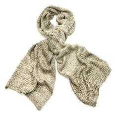 Echarpe beige chiné maille tricot - Echarpe fantaisie - Mes Echarpes