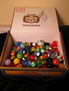 Cigar Box of Vintage Antique Marbles 176 Glass Marbles of Various Sizes | eBay