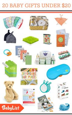 20 Items Under 20 Bucks for your Baby Registry. You can find EnviBaby's 3pk Wash Cloth on this list :-)