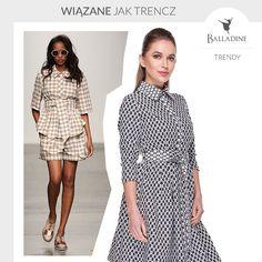 Sukienki koszulowe i wiązane jak trencz to jeden z najnowszych trendów na zbliżający się sezon. Będziecie takie nosić? My na pewno!  Sukienka Lilu | http://goo.gl/2STIwP