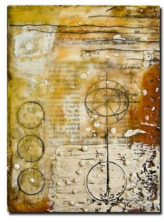 Nancy Donaldson encaustic add buttons/bumps/knobs in encaustic