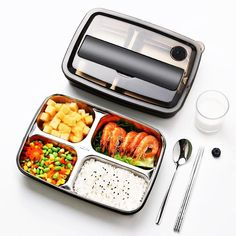Japanese Style Stainless Steel Insulated Bento Lunch Box & F.- Japanese Style Stainless Steel Insulated Bento Lunch Box & Food Container For Adults & Kids Bento Box Lunch For Adults, Adult Lunch Box, Cool Lunch Boxes, Thermal Lunch Box, Insulated Lunch Box, Bag Lunch, Stainless Steel Lunch Box, Lunch Box Containers, Japanese Lunch Box