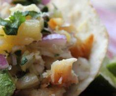 Fish Tacos w Pineapple Salsa | Positively Cooking