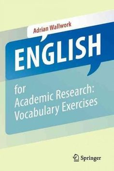 English for Academic Research: Vocabulary Exercises