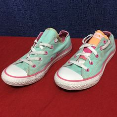 Converse All Star Ox . Green/Pink . 36 6