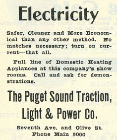 Puget Sound Traction Electricity (1918)