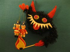 KRAMPUS ORNAMENT toy solider debacle by hiGuys on Etsy, $35.00