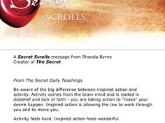 Secret scrolls Rhonda bryne