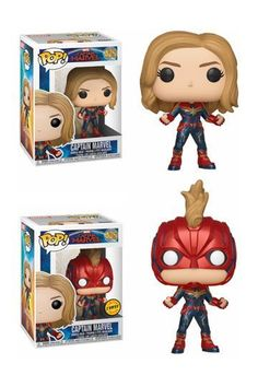 Collectable, vinyl bobble head figure of Captain Marvel from the 2019 movie of the same name. Produced by Funko in their POP! Marvel line of figures. Ms Marvel, Funko Pop Marvel, Captain Marvel, Marvel Pop Vinyl, Marvel Heroes, Captain America, Funko Pop Toys, Funko Pop Vinyl, Dc Comics