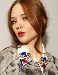 Bejeweled collar