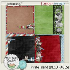 New Release PIRATE ISLAND by TwinMomScraps ON SALE %35 off! Pirate Island DECO PAGES; http://store.gingerscraps.net/Pirate-Island-DECO-PAGES.html. 06/09/2013