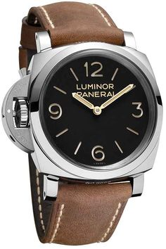 The Panerai Luminor 1950 Left-Handed 3 Days – 47 MM (Ref. PAM00557), with its winding crown and patented crown protection device positioned at 9 0′clock on the left side of the case, recalls some of Panerai's earliest models created for Italian naval commandos of the 1930s and 1940s. #SIHH