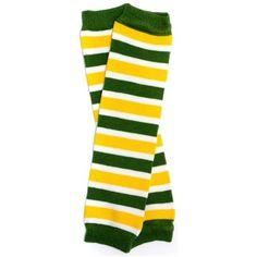 Green Bay Packers inspired baby leg warmers Team Green & Gold, (baby leg warmers, leg warmers, my little legs) Farmer Costume, Baby Leg Warmers, Baby Penguins, Penguin Baby, Nfl Packers, Baby Leggings, Baby Warmer, Gold Stripes, Green Bay Packers