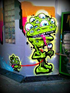Street art Monster
