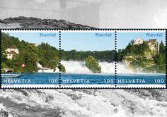 Der Rheinfall zum Versenden. Neue Briefmarke der Schweizer Post. http://www.schaffhauserland.ch/de/rheinfall