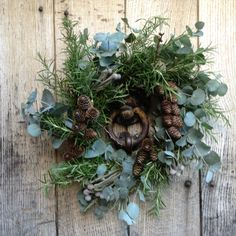 Christmas wreath, ready for the Upton Christmas Fair next Saturday