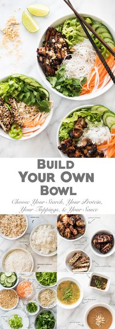 First and Only Carb Cycling Diet - Entertaining? Let your guests build their own bowl! Japanese Diet for Fat Burning - Discover the World's First and Only Carb Cycling Diet That INSTANTLY Flips ON Your Body's Fat-Burning Switch Vegetarian Recipes, Cooking Recipes, Healthy Recipes, Free Recipes, Burger Recipes, Carb Cycling Diet, Japanese Diet, Japanese Rice Bowl, Clean Eating