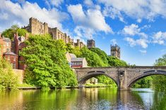 England in Pictures: 20 Beautiful Places to Photograph | PlanetWare Norman Castle, Stained Glass Rose, Durham Cathedral, Riverside Walk, St Cuthbert, British Country, William The Conqueror, England, The Cloisters